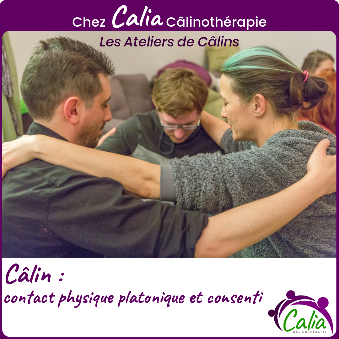Câlin: contact physique platonique et consenti
